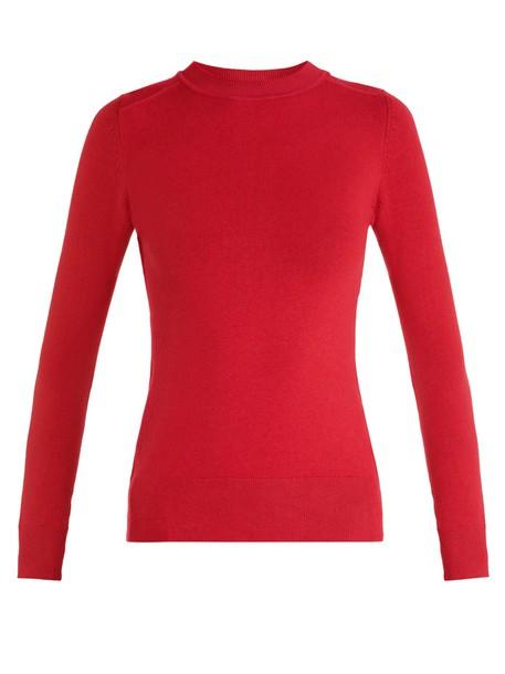 JoosTricot sweater long cotton knit dark dark red red