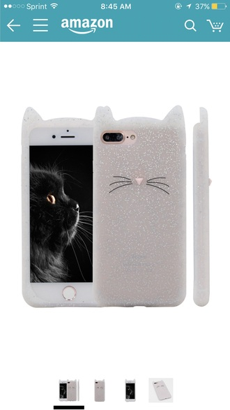 phone cover glitter cats silicone