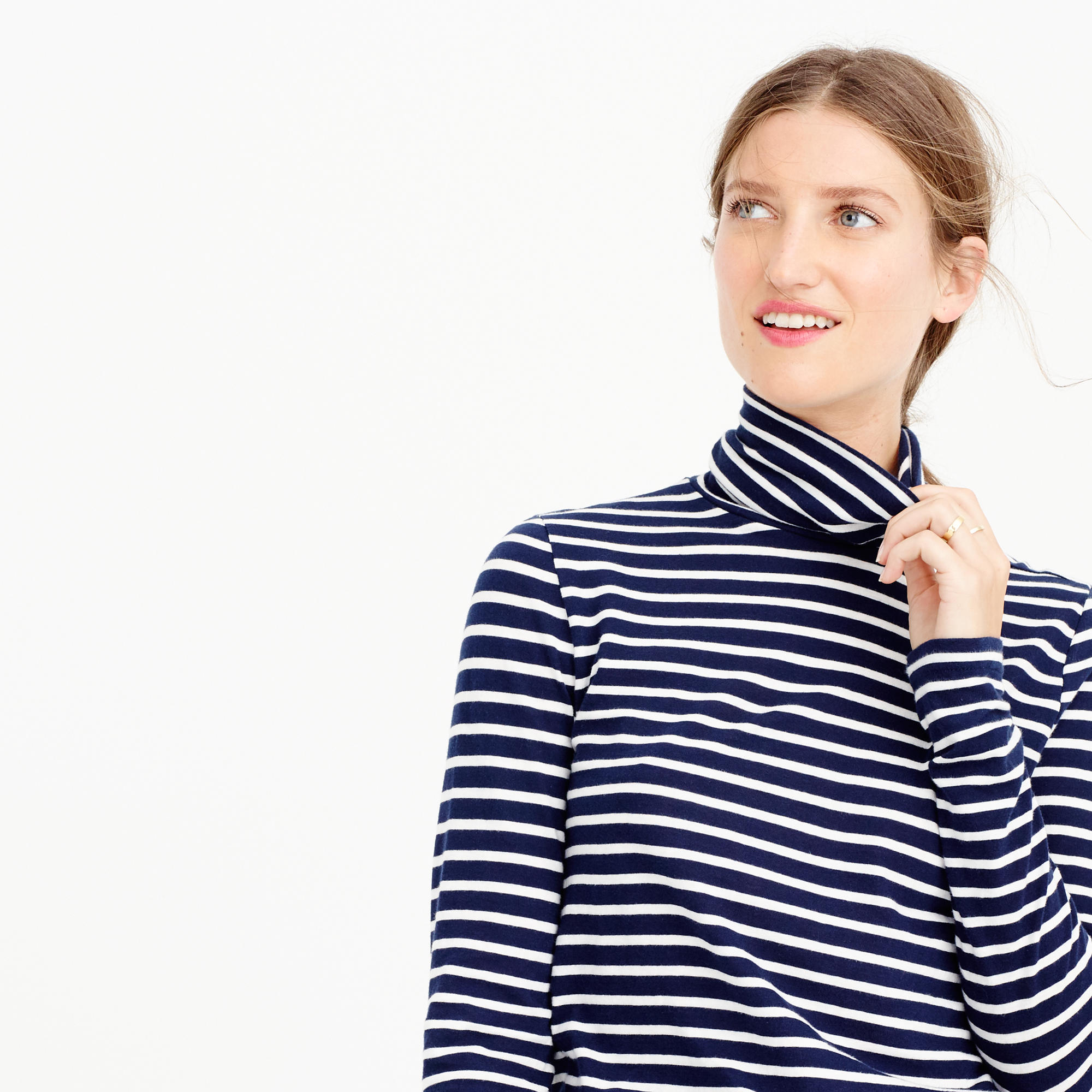 391d551439 Striped tissue turtleneck T-shirt