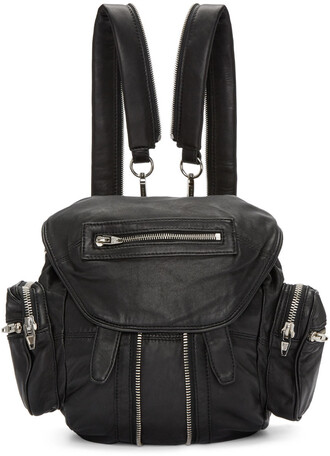 mini backpack black bag