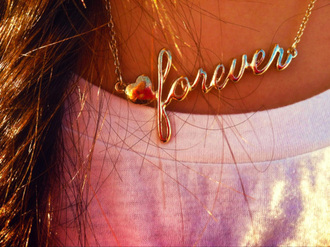 jewels gold necklace forever