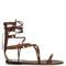 Rolling rockstud leather gladiator sandals
