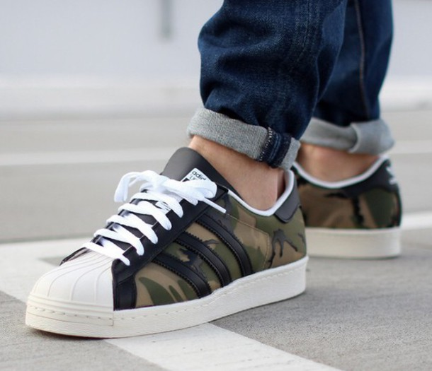 olive green adidas superstar