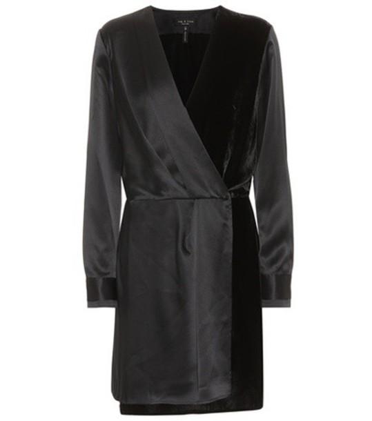 Rag & Bone dress velvet dress velvet satin black