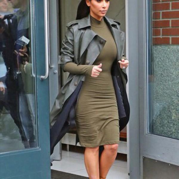 Midi Dress With Coat