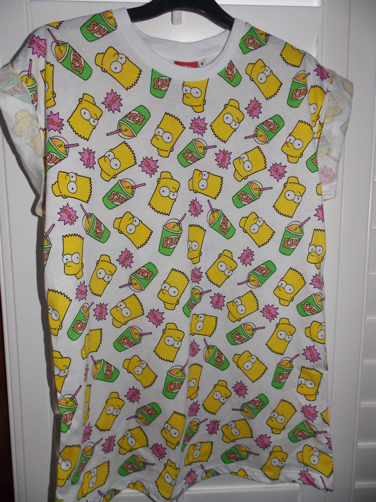 bart simpson the simpsons t shirt tee top uk 6 20 primark. Black Bedroom Furniture Sets. Home Design Ideas