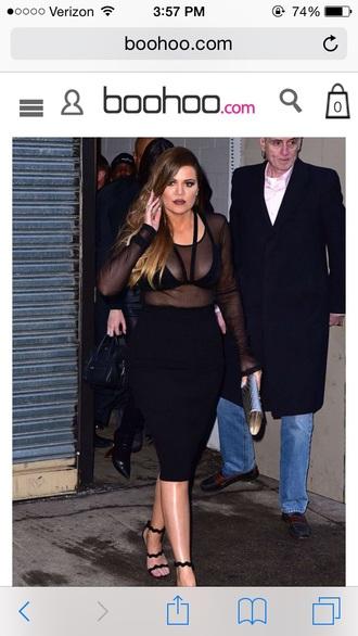 mesh sexy mesh top bralette black velvet nastygal khloe kardashian