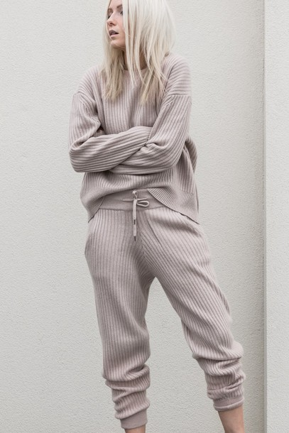e8625e071b8f3 pants lounge wear casual cropped pants matching set sweatpants sweatshirt