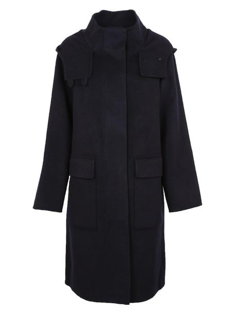 theory coat duffle coat navy