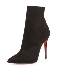 Christian louboutin so kate booty suede red sole ankle boot, black
