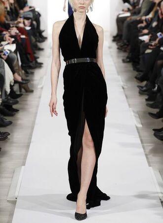dress halter high low a line