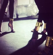 shoes,gold,high heels