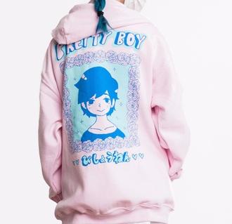 jacket cute kawaii pretty emo harajuku lolita pink pastel pastel blue pastel pink pastel colors outside pretty boy girl girly cutesy cutie