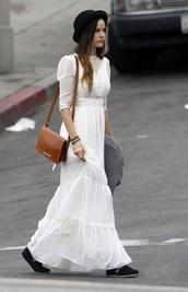 dress,vintage dress,white long dress,white dress,isabel lucas
