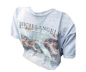 t-shirt,shirt,michael angelo,famous painting,white t-shirt