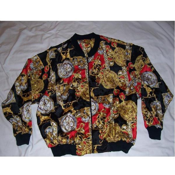 Vintage Versace Hermes Style Bomber jacket - Polyvore