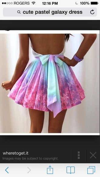 dress pastel pretty galaxy