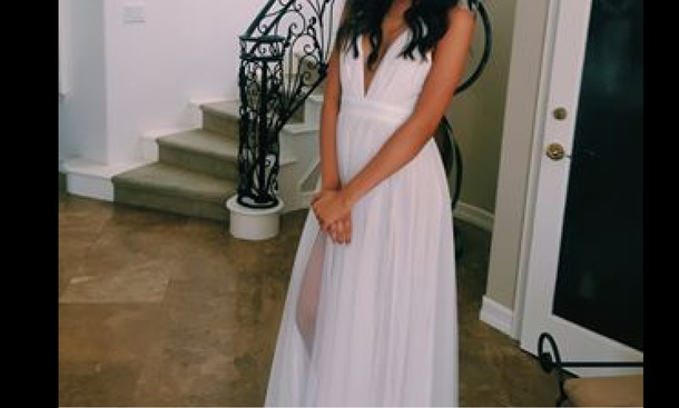 dress white gown prom prom dress