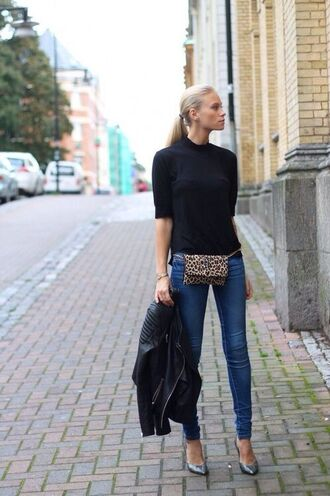 bag belt bag leopard print animal print bag