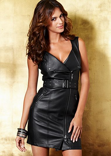 Black Faux leather dress from VENUS