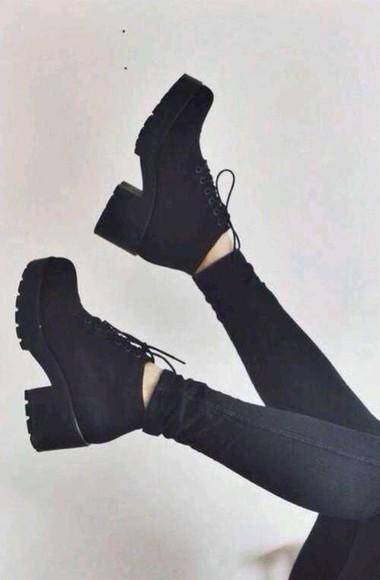 shoes swag hipster vintage lace shoes platform shoes black shoes