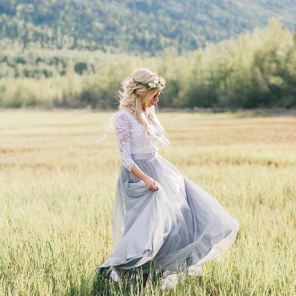 dress tulle skirt grey