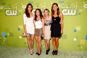 shelley hennig,jessica parker kennedy,britt robertson,phoebe tonkin,the secret circle,premiere,red carpet dress,red carpet,gold,gold sequins,sequin dress,sequins,dress,high heels,actress,black,white,white dress,black dress,the cw,naya rivera,elegant,elegant dress,clothes