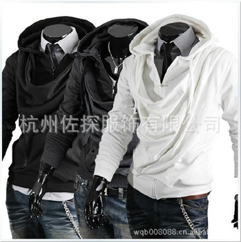 Wholesale trade fashion heap collar Slim tide men's jacket Korean men's hooded sweater special male-in Hoodies & Sweatshirts from Apparel & Accessories on Aliexpress.com