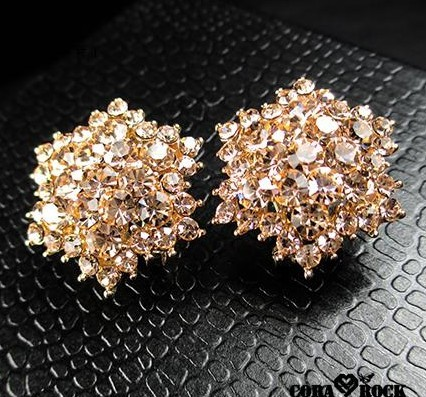 [grxjy530089] Hexagonal Crystal Earrings on Luulla