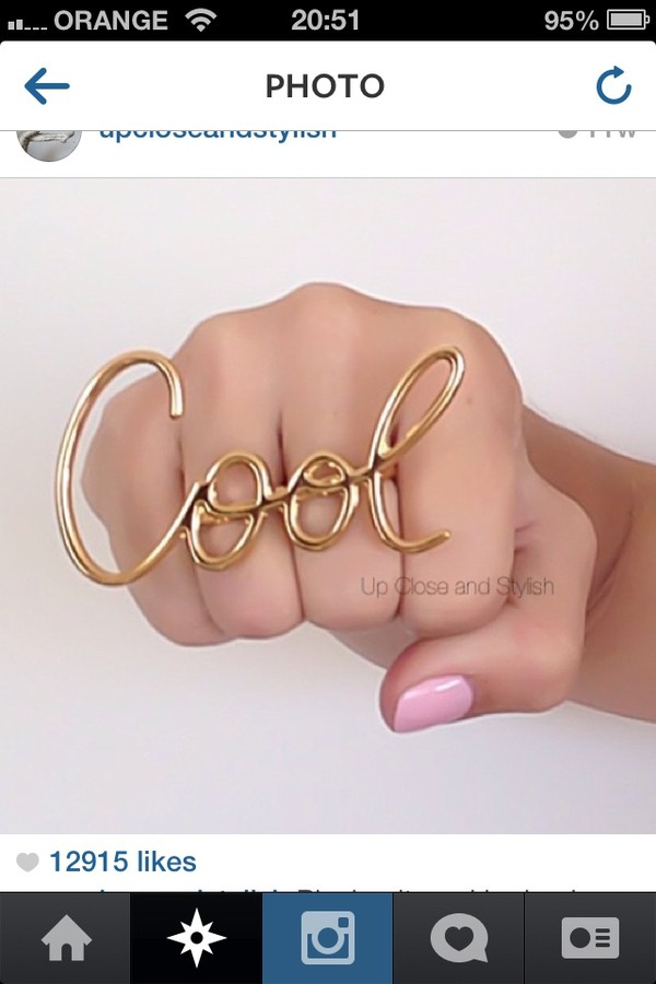 jewels gold cool ring