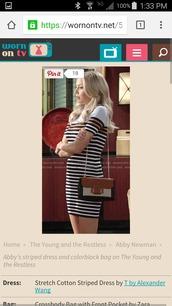 dress,striped dress,cotton dress,t by alexander wang,alexander wang