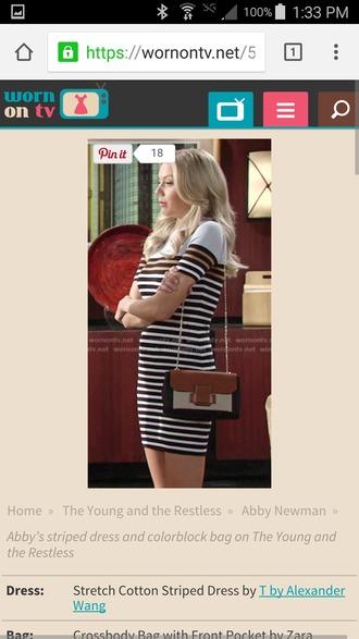 dress striped dress cotton dress t by alexander wang alexander wang