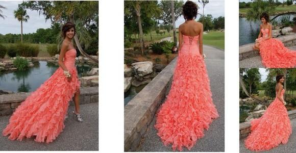 dress orange dress prom dress coral dress