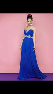 dress,royal blue prom dress,long prom dress,strapless dress,prom dress,navy dress,evening dress