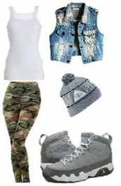 jacket,studded denim,jacket vest,skully,camouflage,girly,tomboy,shoes,hat,jeans,blouse,clothes,pants,blue
