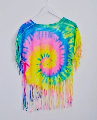tiedye tie dyed tie dyed shirt ripped shirt ripped t shirt t-shirt