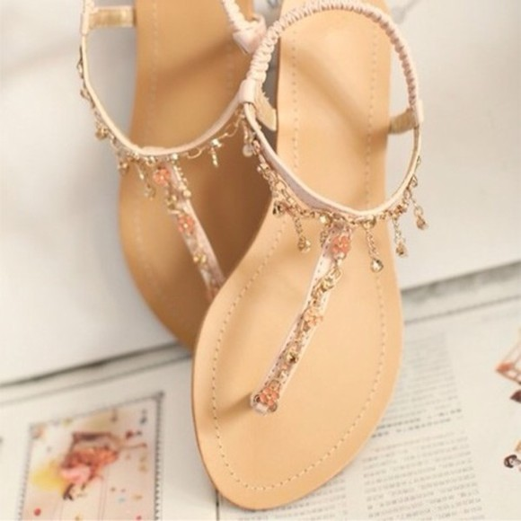 shoes open toes sandals charms tan