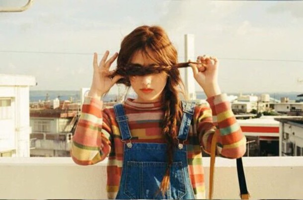 Shirt: blouse, sweater, stripes, overalls, decades, style ...