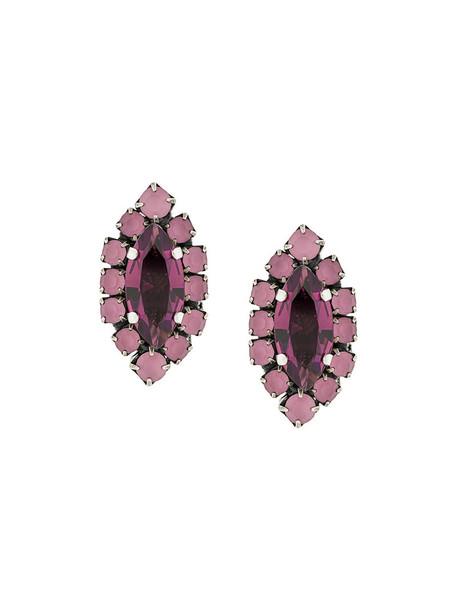 RADÀ women embellished earrings stud earrings purple pink jewels