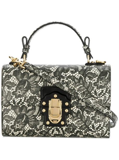 Dolce & Gabbana women bag shoulder bag lace leather black