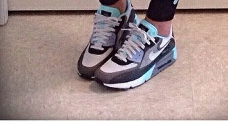 shoes nike air max sneakers grey baby blue white