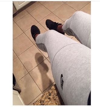 pants nike grey casual summer tracksuit grey leggings sports leggings
