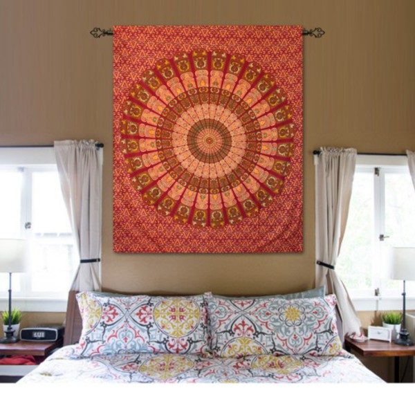 home accessory wall hanging tapestry boho tapestry wall tapestry indian tapestry bohemian tapestry bedsheet bedcover bedding mandala wall hanging
