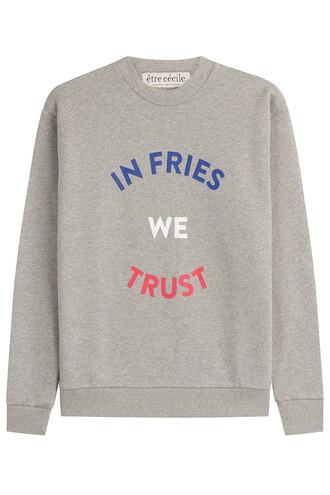 sweatshirt boyfriend fries grey sweater
