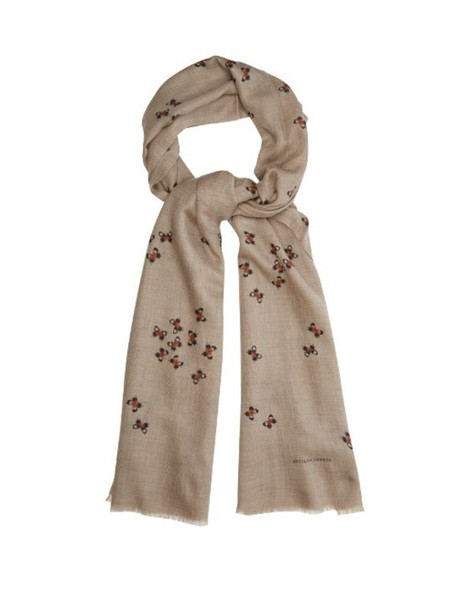 f2ebd1d5a Bottega Veneta BOTTEGA VENETA Butterfly-print cashmere scarf in beige /  multi / beige