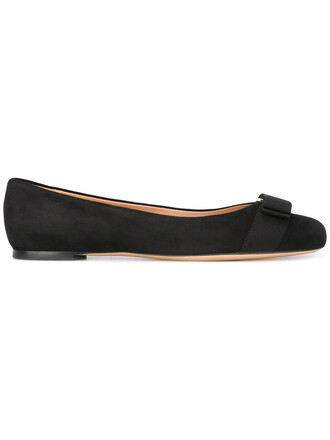 women leather suede black shoes