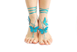 shoes barefoot sandals sandals foot butterfly thong