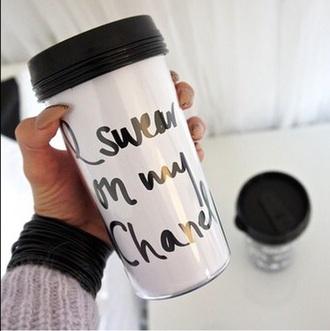 chanel white mug quote on it christmas gift