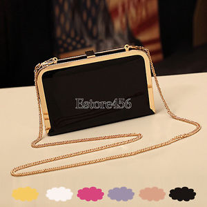 Cute Women's Lady Chain Mini Bag Hand Bag Candy Color Hard Cover Bag Purse E456 | eBay