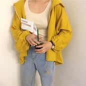 Aesthetic Yellow Jacket - Shop for Aesthetic Yellow Jacket on Wheretoget e20d0270cf9